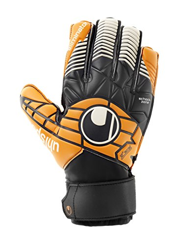 uhlsport Handschuhe ELIMINATOR SOFT ADVANCED, schwarz/orange/weiß, 7, 100018201