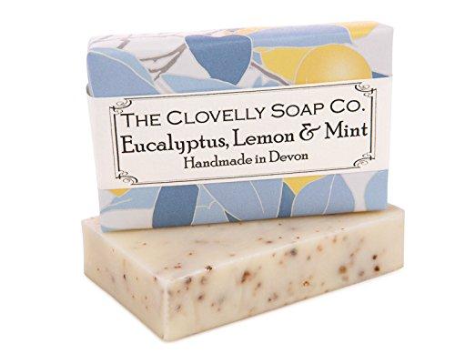 Clovelly Soap Co Natural Handmade Eucalyptus mint & lemon Soap Bar for all Skin Types 100g