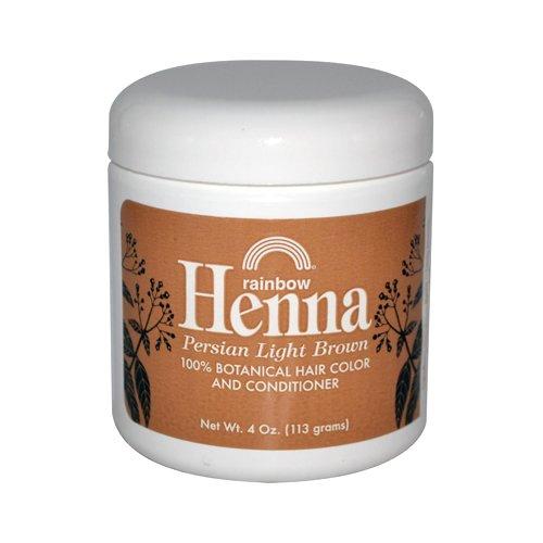 Rainbow Research Henna Haarfarbe und Conditioner Persische Hellbraun, 118 ml - Geheimnisse Aufhellung