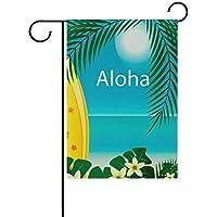 Dozili - Tabla de Surf con Bandera de Aloha con Palma, decoración para el hogar