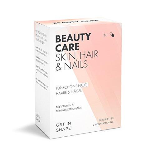 Biotin + Zink + Selen + Kupfer + Folsäure + Vitamin B, E und D | Hochdosiert | Intensiv-Kur für Haut, Haare & Nägel I 60 vegane Kapseln | fördert Haarwachstum | beugt Cellulite und Akne vor