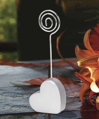 6 Heart Shaped Nome / appunto nota nozze luogo titolari di carte da regalo favori - (2 Pack) - Carta Regalo Della Santa Titolare