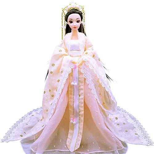 Kostüm China Von Antike - hhxiao 30cm traditionelle chinesische Puppen Mädchen altes Spielzeug zu sammeln schöne ethnische Puppe Prinzessin Stil Vintage mit antiken Kostüm Kleid