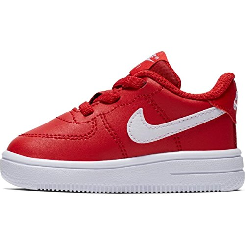 Nike Unisex-Kinder Force 1 '18 (TD) Basketballschuhe, Rot (University Red/White 601), 27 EU