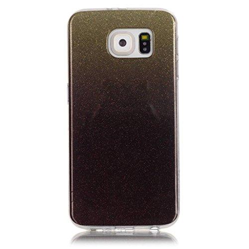 Uming® Copertura di caso della TPU colorful soft modello della stampa Case Cover ( Gradient (Gold) - per IPhone 5C IPhone5C ) Sacchetto di caso della copertura della protezione del silicone del telefo Gradient (Black)