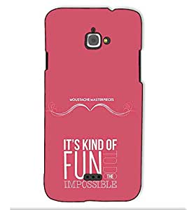Fuson Designer Back Case Cover for InFocus Bingo 50 (Its Kind Of Fun Theme)