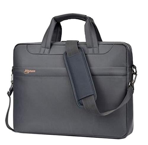 FLHT, Männer Und Frauen Computer Tasche, Handtasche Aktentasche Querschnitt Business Bag Licht Wasserdichte Computer Schutz Tasche Umhängetasche,Grey-15inches