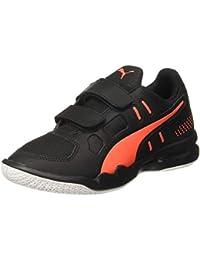 Puma Kids-Unisex Auriz V Jr Black-Nrgy Red Whit