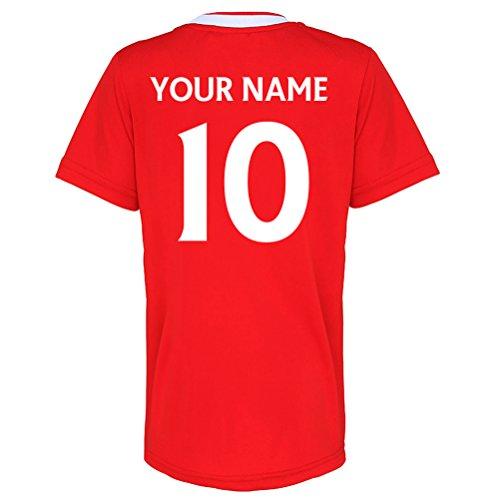 Liverpool Official Personalisierte Verein Waren Ihr Name Zahl Hier Football Club Fußball-Training Top Für Erwachsene Junior Kinder England Spiel Geburtstag Geschenk Individuelle Druck für jeden Fan (Alte Arsenal-trikot)