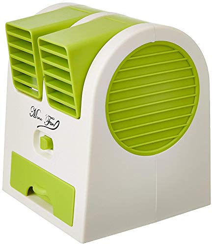 Mother Glory Dual Bladeless Mini Fan Air Conditioner Water Air Cooler (Multi-Coloured)