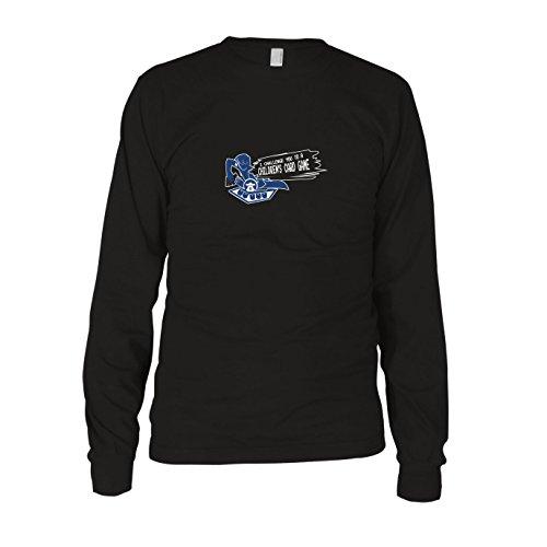 Muto Kostüm Yugi - Card Game Challenge - Herren Langarm T-Shirt, Größe: XXL, Farbe: schwarz