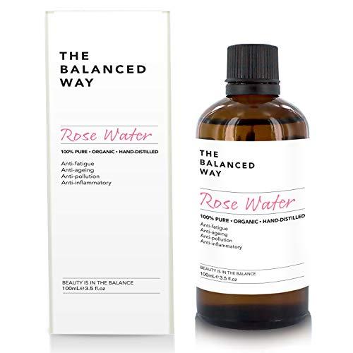 Pure eau de rose - Lotion tonifiante pour visage, corps et cheveux - Bio, naturel, fabriquée au...