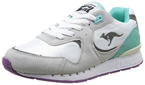 Kangaroos  Coil R2,  Sneaker donna Grigio Gris (Lt Grey/Lt Turquoise 248) 40
