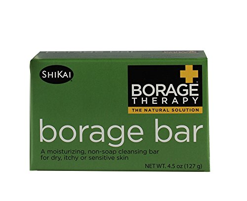 Borage Non-Soap Cleansing Bar, 4.5 Ounce by ShiKai Products