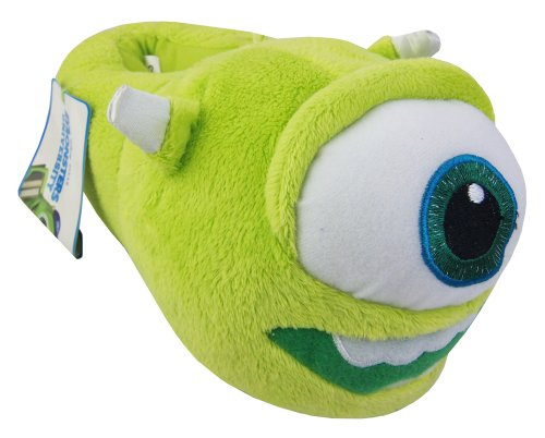 "Image of Kids MONSTERS INC Slippers Boys Girls Novelty Slipper Boots DISNEY PIXAR ""MIKE WAZOWSKI"" Size 11-12"