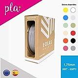 EOLAS Safe - Filamento impresión 3D 100% PLA 1.75 mm - Made in Spain - Food safe - Toys safe - Certified … (1 kg, Gris oscuro)