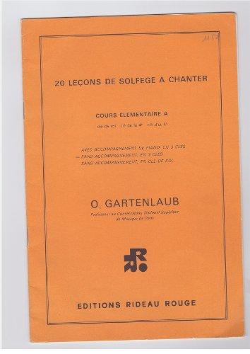 Pierre Max Dubois - LIVRE DE SOLFEGE COURS ELEMENTAIRE A (clé de sol - fa 4ème - ut 4ème) - 20 pieces musicales sans accompagnement