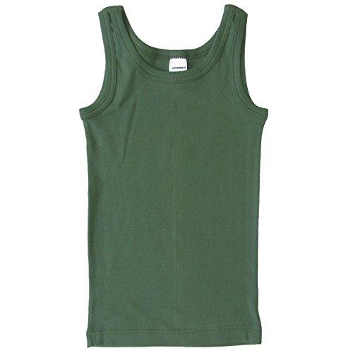 HERMKO 2800 Knaben Unterhemd aus 100% Bio-Baumwolle, Jungen Tank Top, Größe:152, Farbe:olive (Top Tank Grünen Armee)