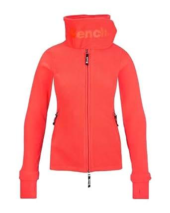 Bench Damen Sweatshirt Fleecejacke Funnelneck orange (Fiery coral) Medium