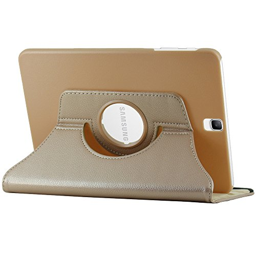 ebestStar - compatibel Samsung Galaxy Tab S3 9.7 Hülle SM-T820, SM-T825 Rotierend Schutzhülle Etui, Schutz Hülle Ständer, Rotating Case Cover Stand, Gold [Tab: 237.3 x 169 x 6mm, 9.7'']