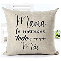 Cojín Mamá 31 x 31 cm. Regalo/Bodas/San Valentín/Cumpleaños/Ella/Aniversario