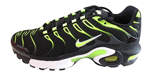 nike air max 1 réglés plus (GS) TN 655020 Baskets Chaussures d'entraînement Noir/Volt-blanc
