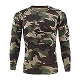 Aoogo Herren Outdoor Taktische Kleidung Schnell Trocknend T-Shirt Langarm, Männer im Freien Schnell Trocknend Camouflage Langarm Tops Bluse T-Shirts