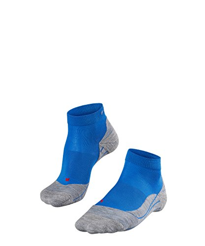 FALKE Damen Socken Laufsocken RU4 Short - 1 Paar, Gr. 41-42, blau, feuchtigkeitsregulierend, Sportsocken Running
