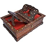 Online Collection Wooden Hand Carved Holy Book Stand And Box For Quran,Bible,Gita,Ved,Guru Granth Sahib (Ocn167)