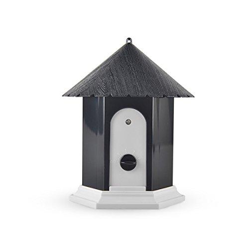 PETCUTE Dispositivos antiladridos sónicos,Controlador Interior ultrasónico al Aire Libre de la Corteza del Perro/con Pilas/eficaz / inofensivo Dispositivo Anti Que descorteza/Forma del Birdhouse