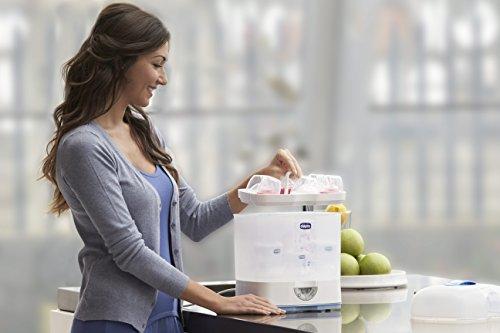 Chicco Steril Natural 3en1 - Esterilizador eléctrico de hasta 6 biberones en 5 minutos