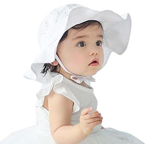 Elyseesen Bambin enfant enfants soleil Cap été extérieur bébé filles garçons soleil plage coton chapeau