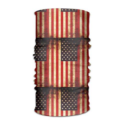 KENTONG Hill Unisex Vintage Usa Flag Multifunctional Bandanas Sweatband Elastic Turban Headwear Headscarf Beanie Kerchief Usa Knot Turban