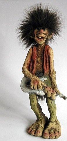 Nyform Trolls Original Norwegen unverwüstlich Spielt Gitarre