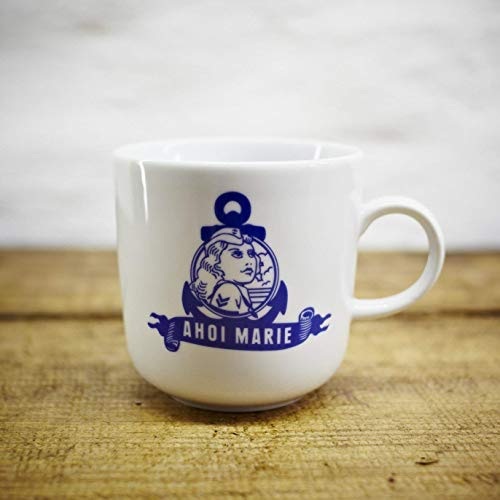 Kaffeebecher - 100% Handmade von Ahoi Marie - Motiv Marie - Maritime Porzellan-Tasse original aus dem Norden