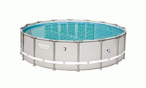 Bestway Power Steel Frame Pool, rund Ersatzteil, grau, 488 x 122 cm