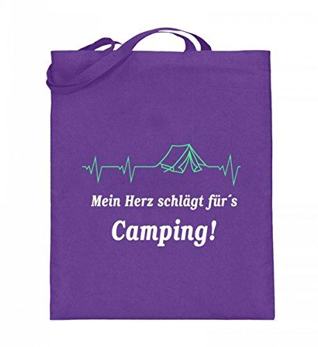 Iuta Qualità (con Manici Lunghi) - Campeggio Battito Cardiaco Viola