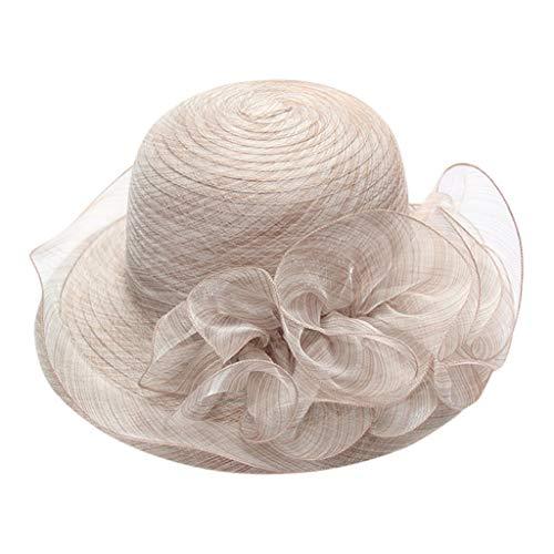 Beonzale Damen Organza-Kirche Kentucky Derby Fascinator der Brautparty-Hochzeits-Hut der Frauen Handgemachter Hut der Hut Feder (Derby Lustig, Hüte Kentucky)