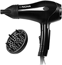 Nova NHP 8201 Foldable Professional Series Hair Dryer (Black)