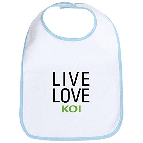 CafePress Live Love Koi Lätzchen, Blau - Koi-live