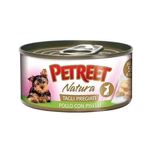 Petreet scatoletta cibo umido tagli pregiati cane adulto pollo/piselli 85gr