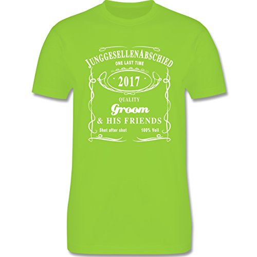 JGA Junggesellenabschied - JGA Groom 2017 Lettering - Herren Premium T-Shirt Hellgrün