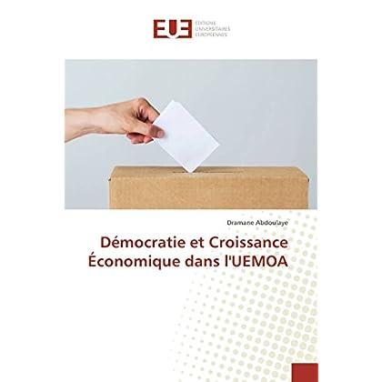 Démocratie et Croissance Économique dans l'UEMOA