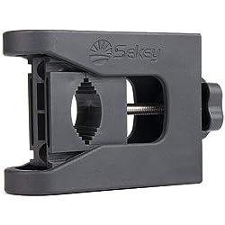 Sekey Support pour Parasol de Balcon Compatible avec Tous Types de rambardes Pied de Parasol Socle Parapluie Parasol Diamètre de Support Universel de 16-30 mm,Anthracite