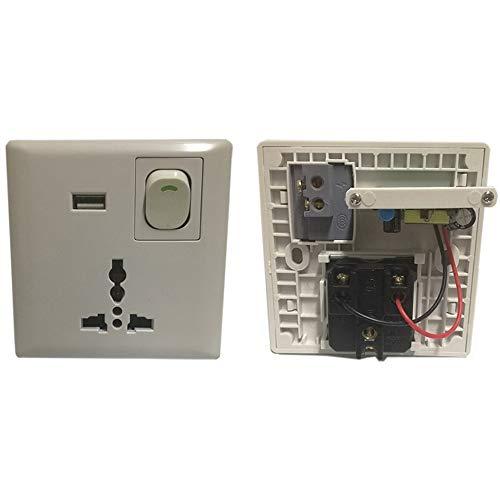 tradeshoptraesio®-Toma empotrable a pared universal con USB con interruptor de alimentación