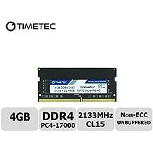 Timetec Hynix IC 4GB DDR4 2133MHz PC4-17000 Unbuffered Non-ECC 1.2V CL15 1Rx8 Single Rank 260 Pin SODIMM Portatil Memoria Principal Module Upgrade (4GB)