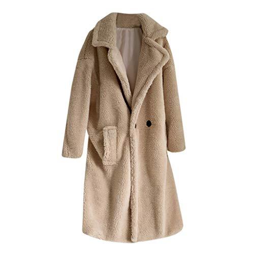 LOLIANNI Damenmode Herbst Reine Farbe Mantel Damen Winter Lose Mittellange Windjacke Täglichen Nachahmung lammhaar Outwear -