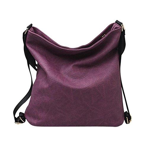 PU borsetta crossbody, moda donna regolabile borsa crossbody spalla zaino borsa di Kangrunmy Rosso