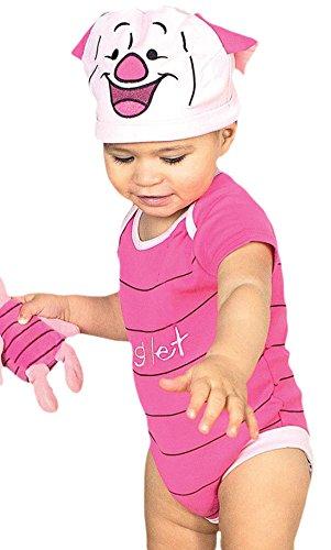 erdbeerloft - Babys Piglet Ferkel Winnie Pooh Jersey Set Karneval Kostüm , Pink, Größe 80-86, 12-18 (18 Monat Kostüm Robin)