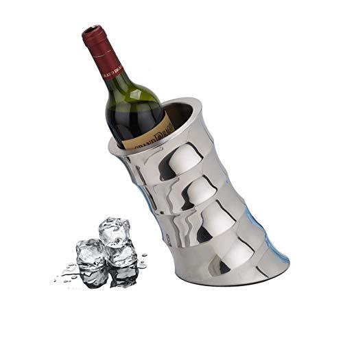 SGSG Wein Kühler Eimer EIS Eimer Isolierter doppelwandiger Getränkekühler Isolierter Champagner-Bier-Eiskübel aus Edelstahl,Retro -